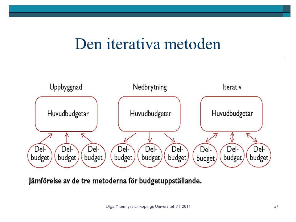 Olga Yttermyr / Linköpings Universitet VT 201137 Den iterativa metoden