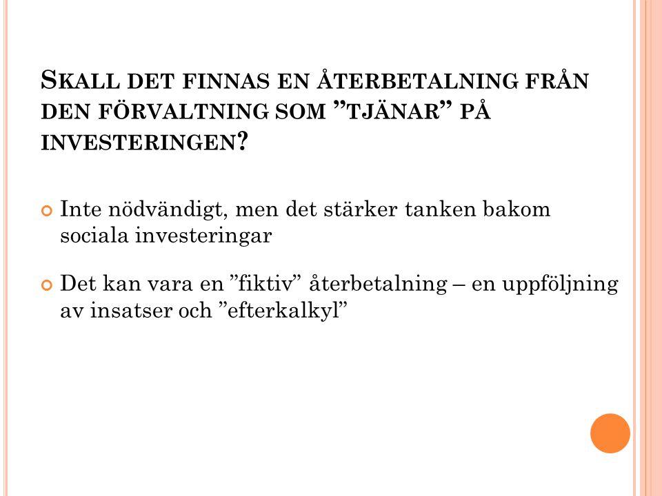 S KALL DET FINNAS EN ÅTERBETALNING FRÅN DEN FÖRVALTNING SOM TJÄNAR PÅ INVESTERINGEN .