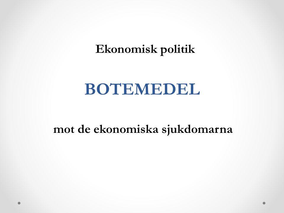 BOTEMEDEL mot de ekonomiska sjukdomarna Ekonomisk politik
