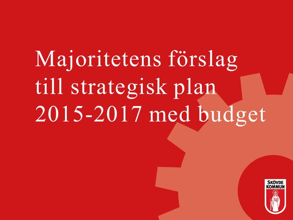 Resursförstärkningar Analys av förändringar i budgeten (mnkr) Budget 2015 Plan 2016 Plan 2017 Index uppräkning48,059,880,0 Demografimodellen2,73,47,7 Satsningar55,634,827,4 Ständig förbättring-23,9-25,0 Summa82,473,090,1