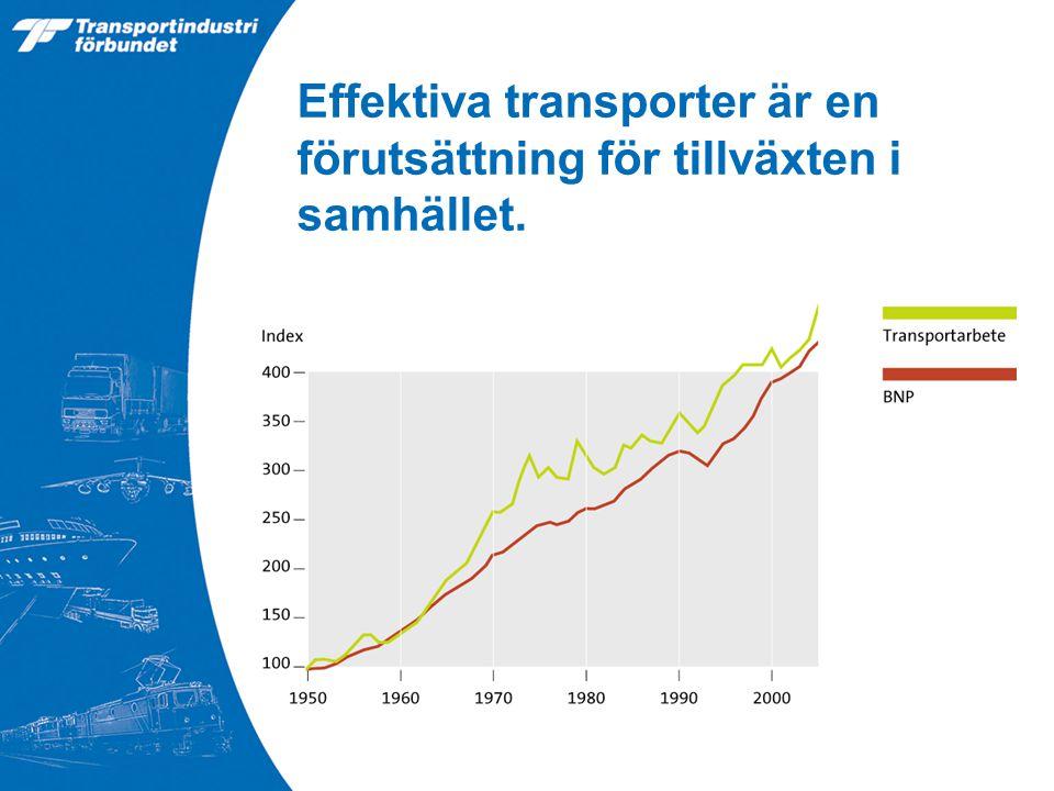 Effektiva transporter är en förutsättning för tillväxten i samhället.