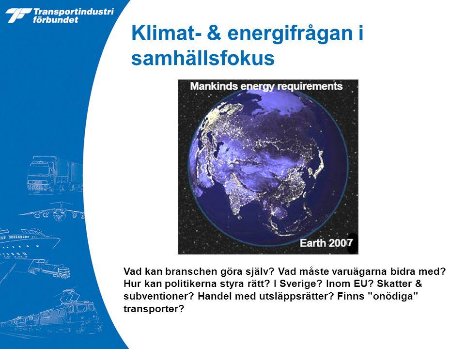Klimat- & energifrågan i samhällsfokus Vad kan branschen göra själv.