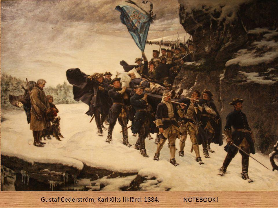 Gustaf Cederström, Karl XII:s likfärd. 1884. NOTEBOOK!