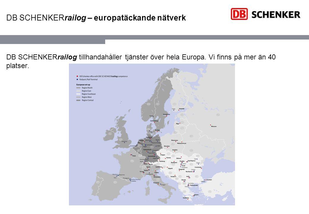 DB SCHENKERrailog Papper Projektrelaterade koncept för både vagnslaster och blocktåg.
