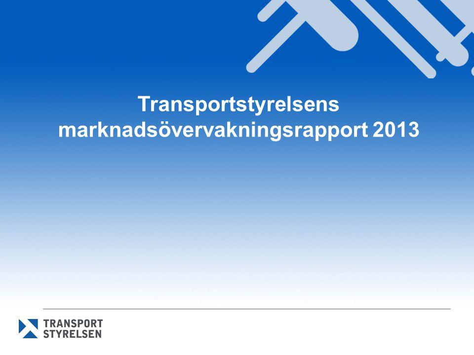Transportstyrelsens marknadsövervakningsrapport 2013