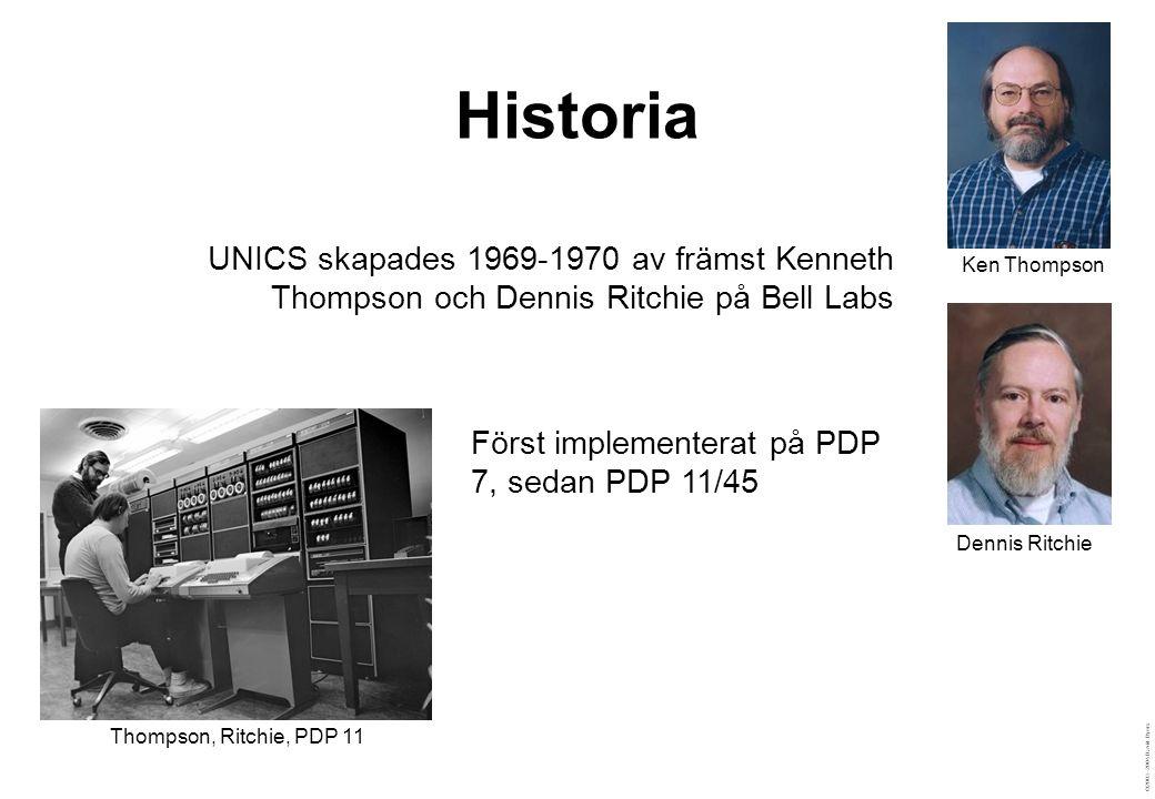©2003–2004 David Byers Kommandon i Unix  Enkla kommandon  Väldefinierade uppgifter  Komplexa kommandon byggs upp från enkla  Sätts samman med pipes, substitution, redirection, sekventiering m.m.
