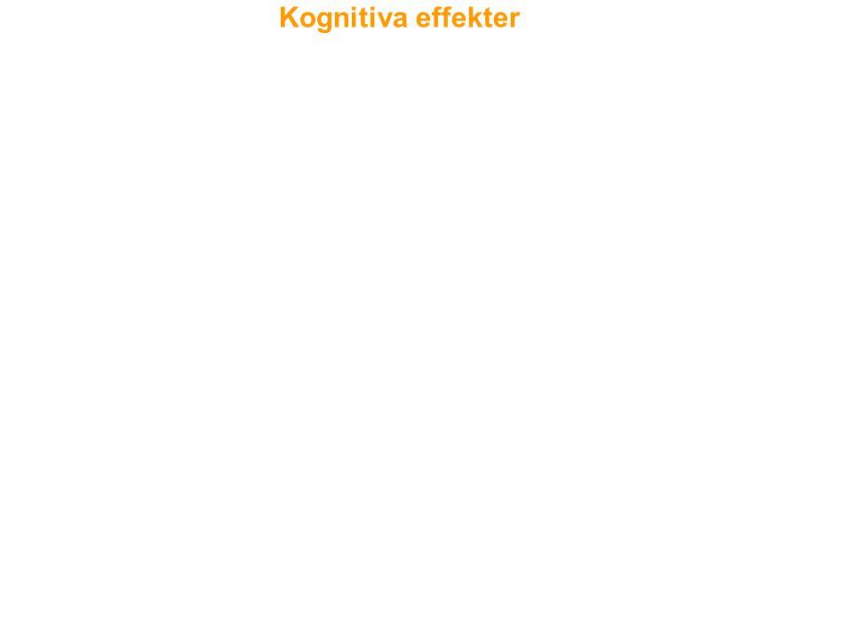 Akuta neuropsykologiska effekter (inom 12-24 timmar) inkluderar brister i uppmärksamhet, exekutiv funktion och korttidsminnet. En långtidseffekt (efte