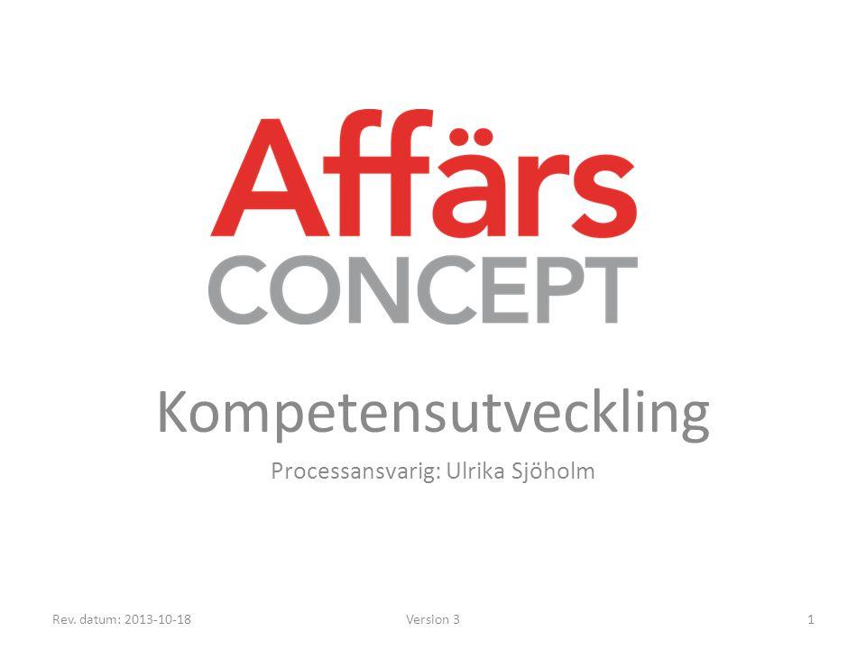 Process – Processen avser kompetensutveckling av medarbetare på AffärsConcept (AC).