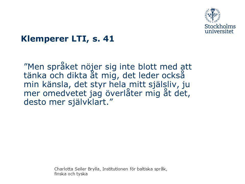 Klemperer LTI, s.