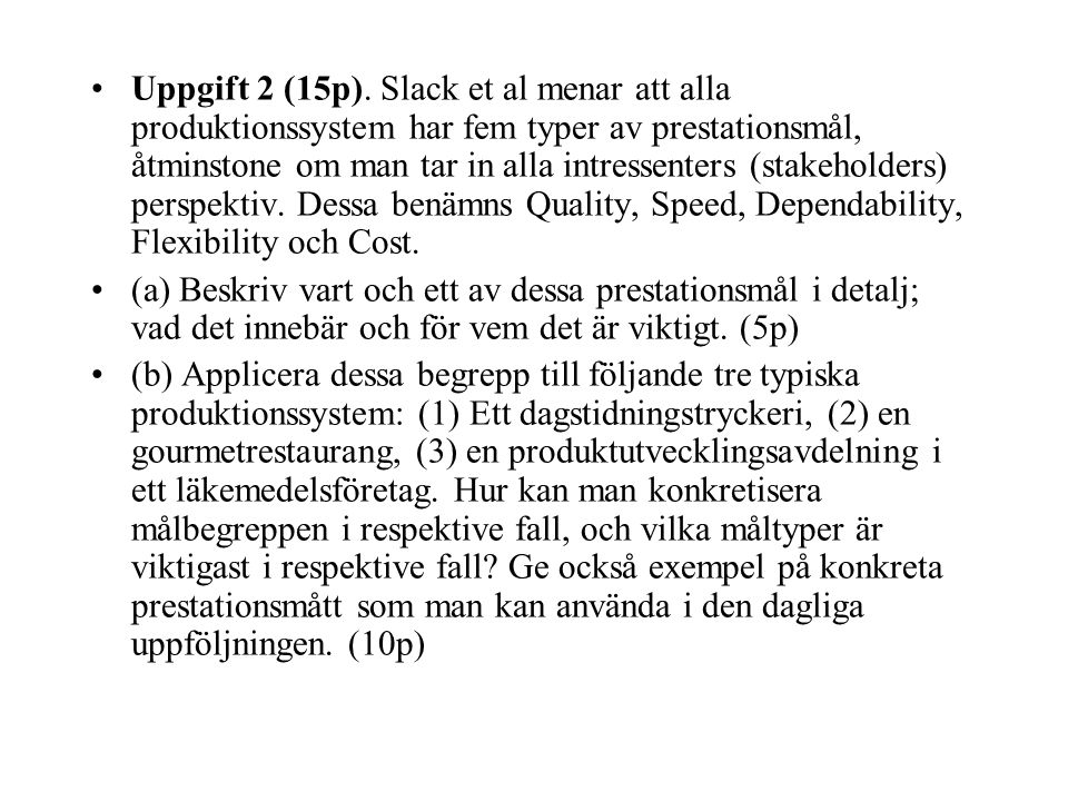 Uppgift 2 (15p).