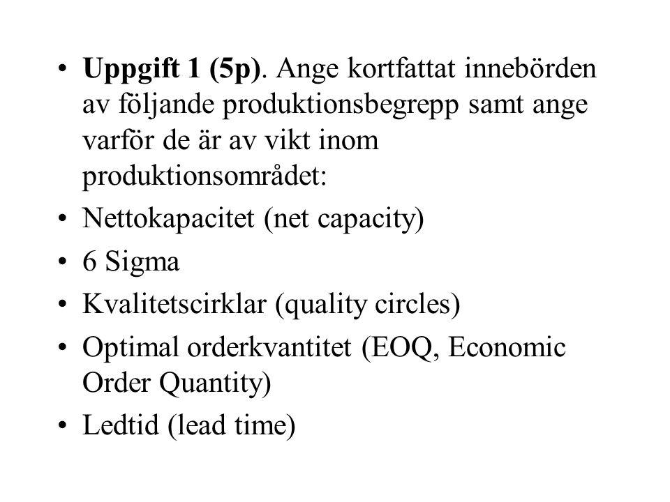 Uppgift 1 (5p).