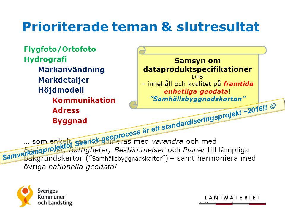 Samhällsbyggnadskartan / Samverkansprojektet Svensk geoprocess