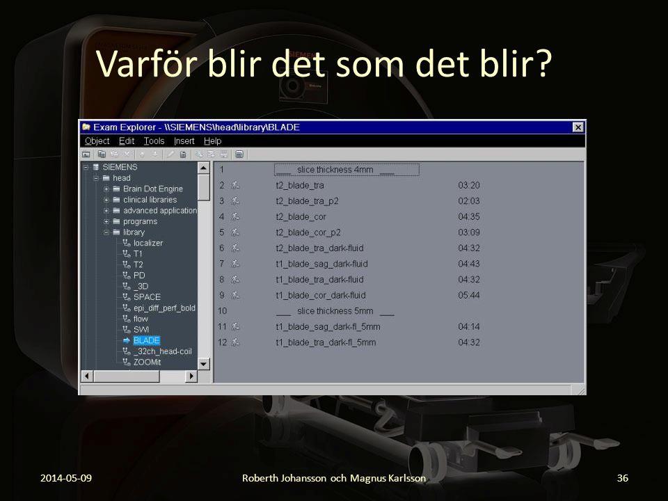 Varför blir det som det blir? 2014-05-09Roberth Johansson och Magnus Karlsson36