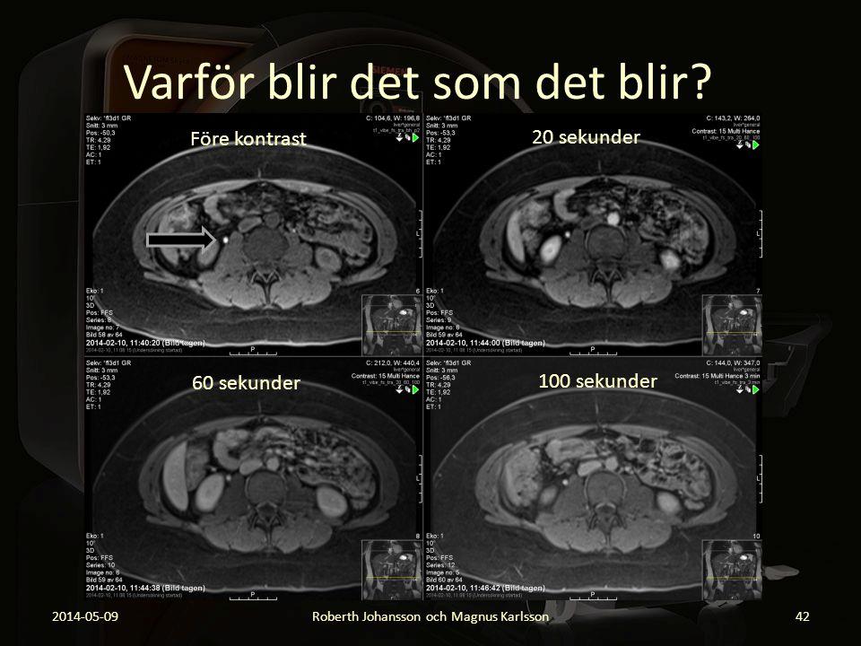 Varför blir det som det blir? 2014-05-09Roberth Johansson och Magnus Karlsson42 Före kontrast 20 sekunder 60 sekunder 100 sekunder