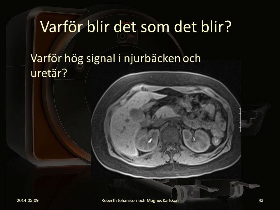 Varför blir det som det blir? 2014-05-09Roberth Johansson och Magnus Karlsson43 Varför hög signal i njurbäcken och uretär?