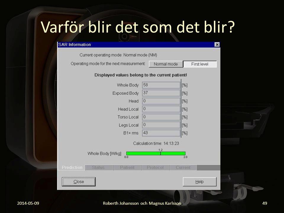 Varför blir det som det blir? 2014-05-09Roberth Johansson och Magnus Karlsson49