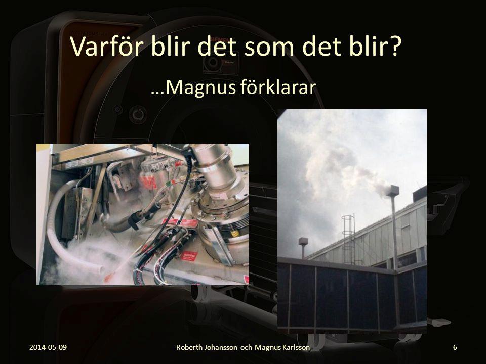 Varför blir det som det blir? …Magnus förklarar 2014-05-09Roberth Johansson och Magnus Karlsson6