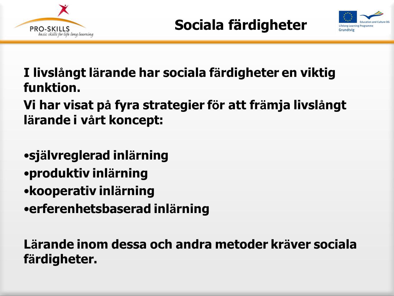 Sociala f ä rdigheter Att behärska sociala färdigheter har blivit livsviktigt i ett samhälle som beskrivs som postmodernt eller senmodernt (t.ex.