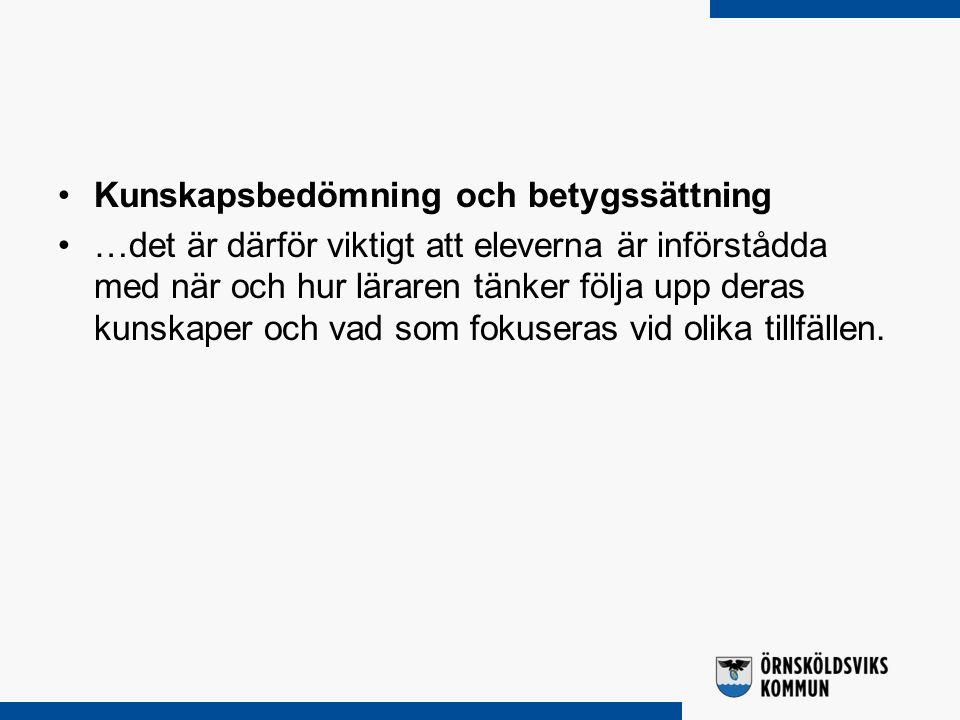 Allmänna råd med kommentarer om planering och genomförande av undervisningen Planering Genomförande Kunskapsbedömning och betygsättning Uppföljning Dokumentation