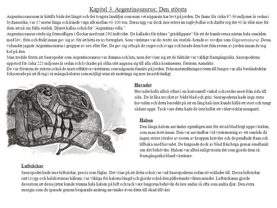 Kapitel 3. Argentinosaurus: Den största Argentinosaurusen är hittills både det längst och det tyngsta landdjur som man vet någonsin har levt på jorden