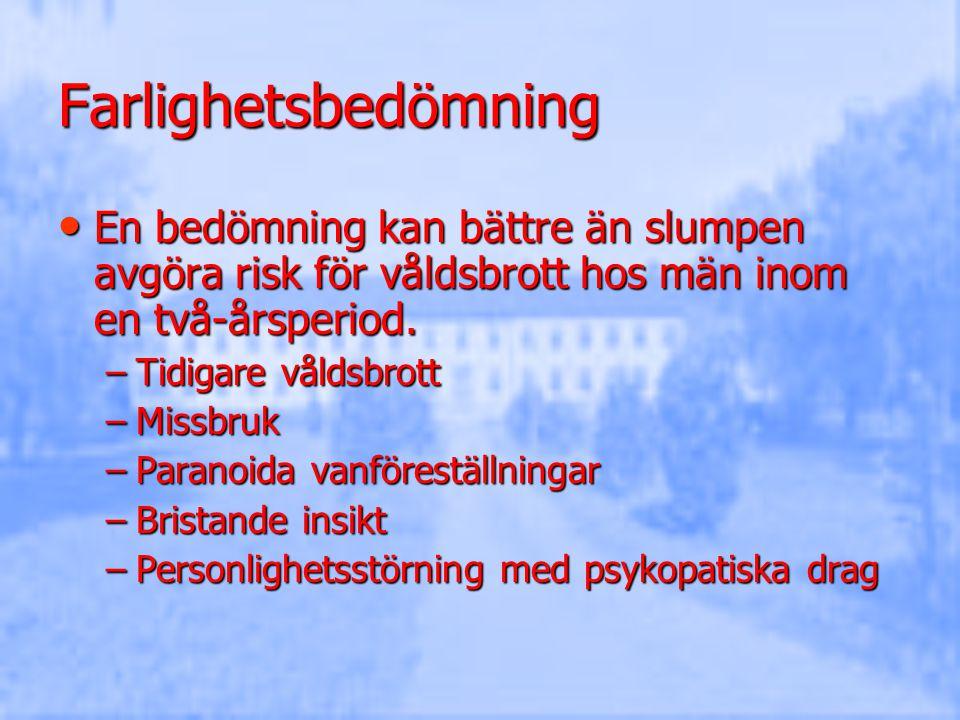 Förekomst Insjuknandeålder 20-30 år Insjuknandeålder 20-30 år 15 pers/100.000/ år insjuknar i schizofreni 15 pers/100.000/ år insjuknar i schizofreni År 2005 hade 0,7 % i Stockholm psykossjukdom/schizofreni (10.000/5600 individer) År 2005 hade 0,7 % i Stockholm psykossjukdom/schizofreni (10.000/5600 individer) Livstidsprevalens 1 % Livstidsprevalens 1 % Stora lokala variationer/ sjukdomen ökar Stora lokala variationer/ sjukdomen ökar