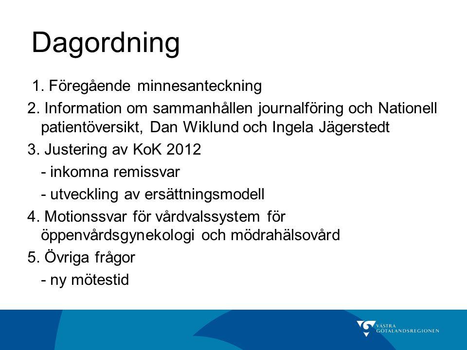 Dagordning 1. Föregående minnesanteckning 2.