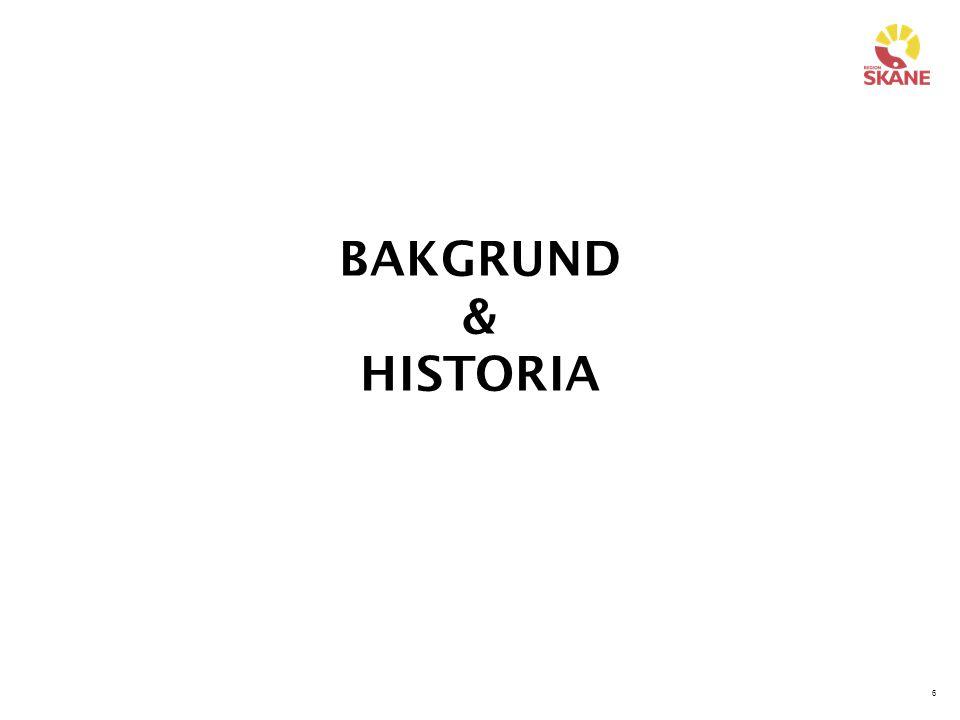 6 BAKGRUND & HISTORIA
