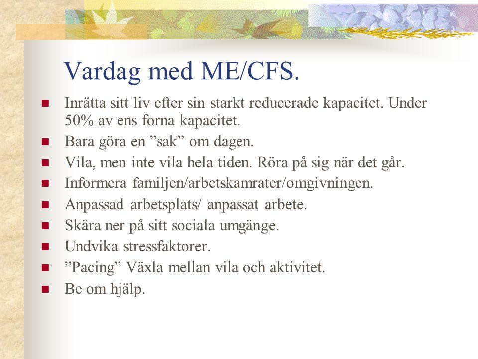 """Vardag med ME/CFS. Inrätta sitt liv efter sin starkt reducerade kapacitet. Under 50% av ens forna kapacitet. Bara göra en """"sak"""" om dagen. Vila, men in"""