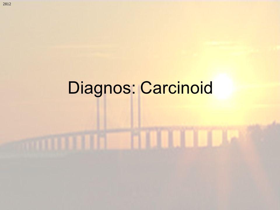 Diagnos: Carcinoid 2812