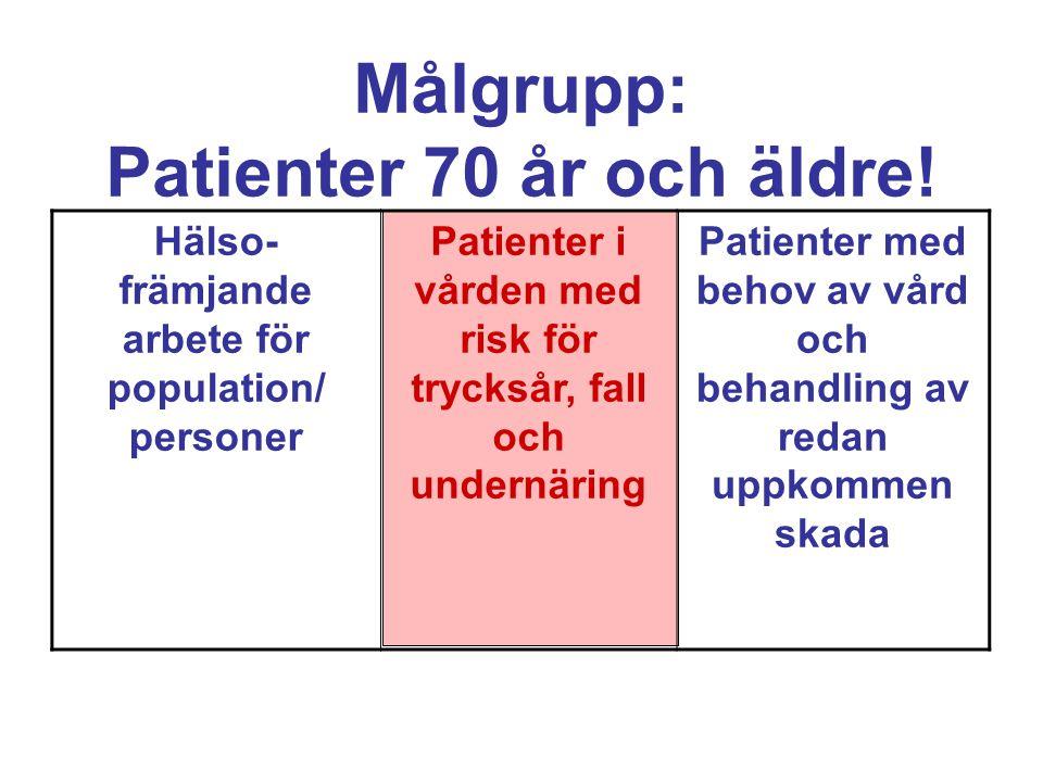 Målgrupp: Patienter 70 år och äldre.