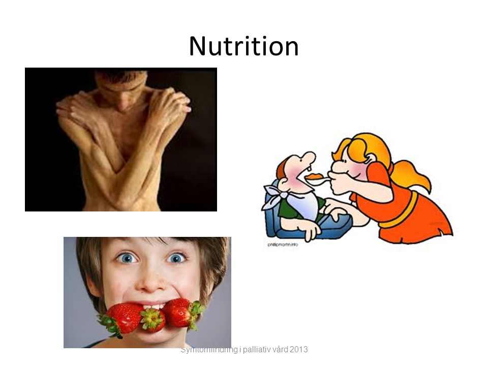 Nutrition Symtomlindring i palliativ vård 2013