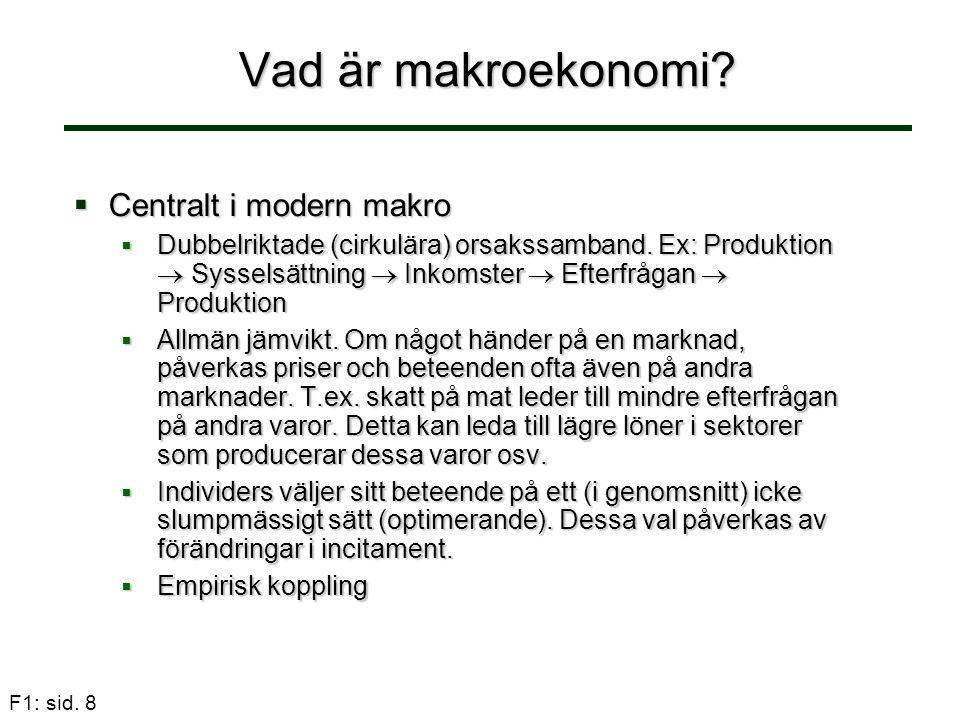 F1: sid. 39 Sverige befolkning 16-64 år, 2005