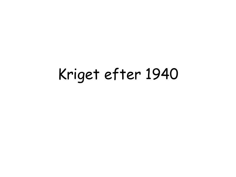 1945 - Slutet Tyskarna pressades tillbaka från båda Håll och våren 1945 möttes Amerikanska och sovjetiska soldater vid floden Elbe.