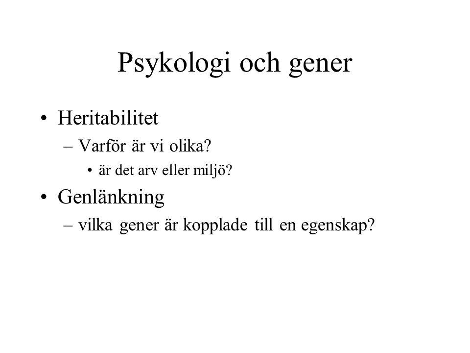 Psykologi och gener Heritabilitet –Varför är vi olika.