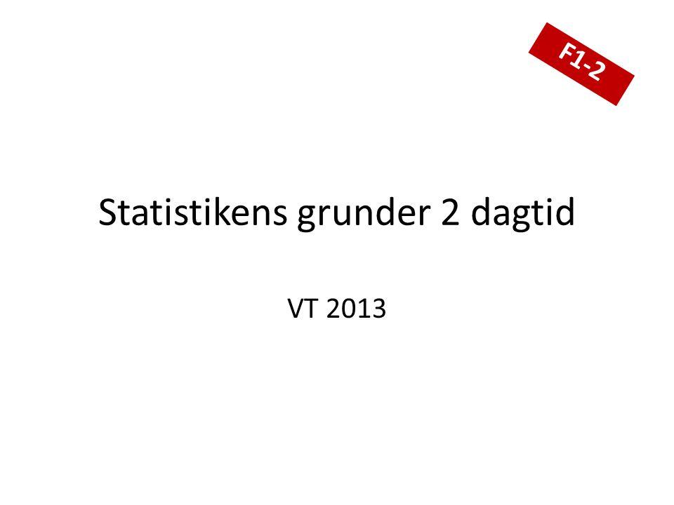 Statistikens grunder 2 dagtid VT 2013 F1-2