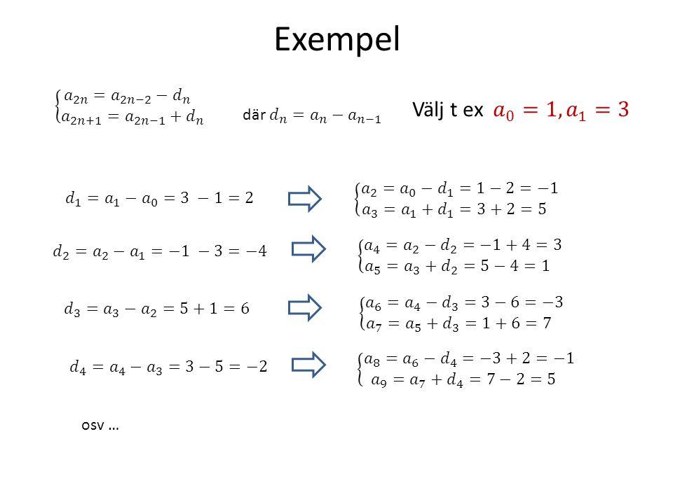 Exempel osv …