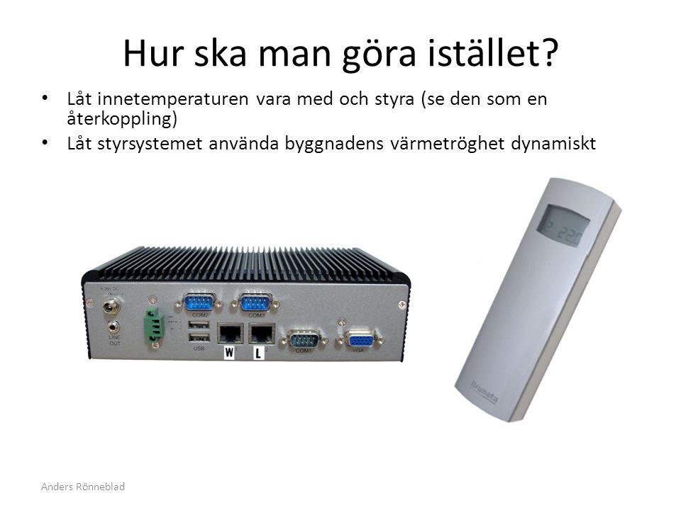 Anders Rönneblad Hur ska man göra istället.