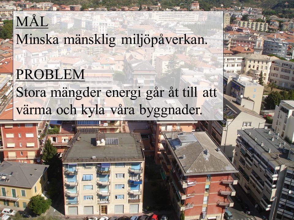 Låg energiförbrukning 1.Isolering 2. Tätt byggnadsskal 3.