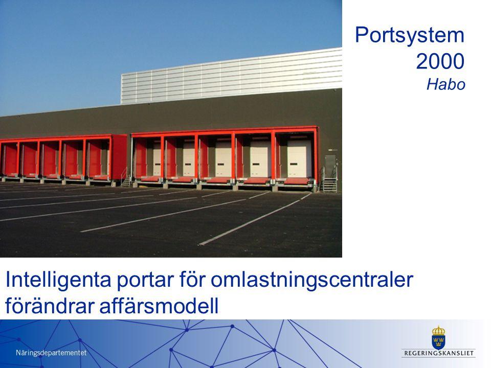 Intelligenta portar för omlastningscentraler förändrar affärsmodell Portsystem 2000 Habo