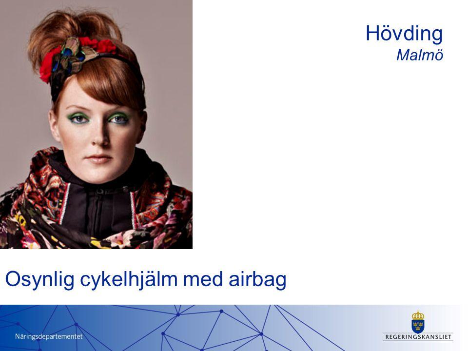 Osynlig cykelhjälm med airbag Hövding Malmö