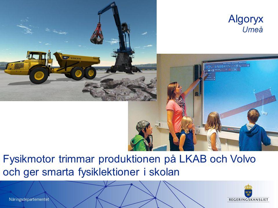 Fysikmotor trimmar produktionen på LKAB och Volvo och ger smarta fysiklektioner i skolan Algoryx Umeå