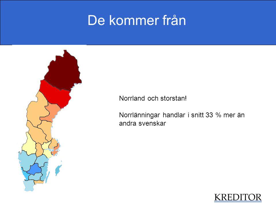 De kommer från Norrland och storstan! Norrlänningar handlar i snitt 33 % mer än andra svenskar