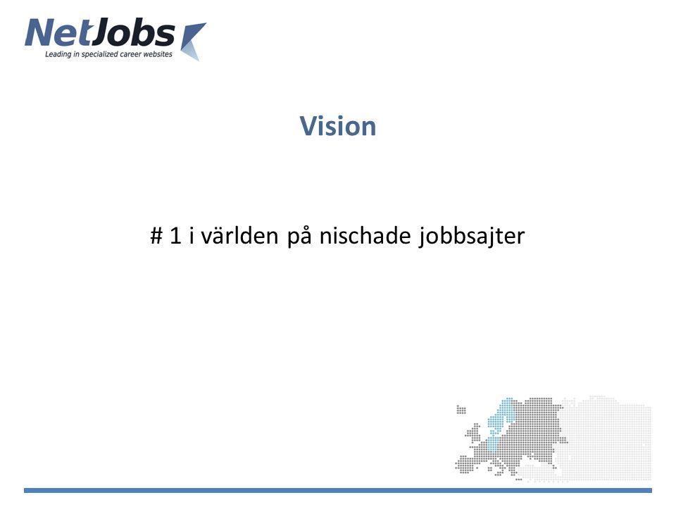Vision # 1 i världen på nischade jobbsajter