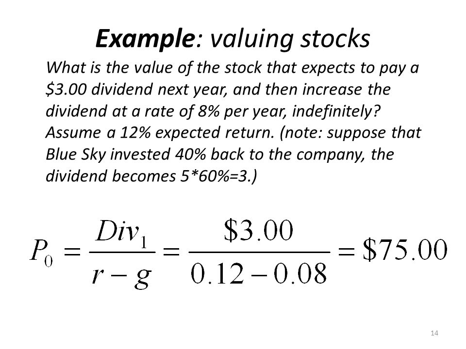 What is the value of the stock that expects to pay a $3.00 dividend next year, and then increase the dividend at a rate of 8% per year, indefinitely?