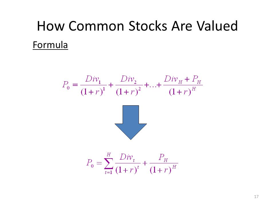 How Common Stocks Are Valued Formula 17