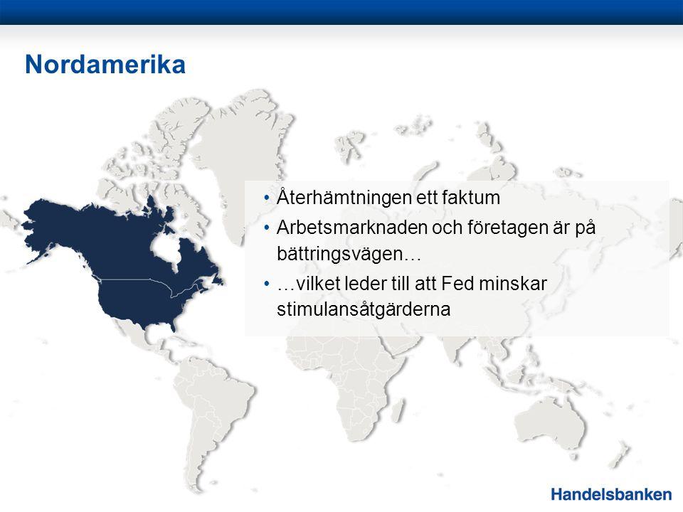 Norden 2014 bör bli ett starkt år för svensk ekonomi Exporten och tillverkningsindustrin ser ut att ha vänt upp Inflationen är på historiskt låga nivåer Fortsatt låga räntenivåer