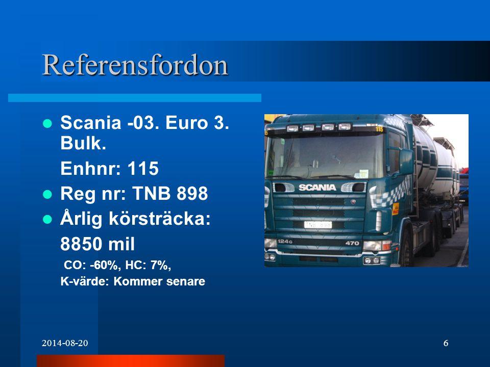 2014-08-207 Referensfordon Volvo -06.Euro 3. Anläggning.