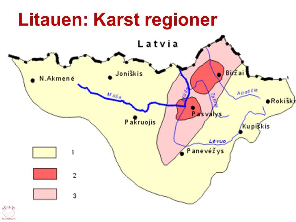 Litauen: Karst regioner