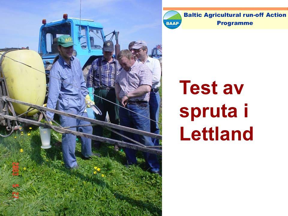 Test av spruta i Litauen