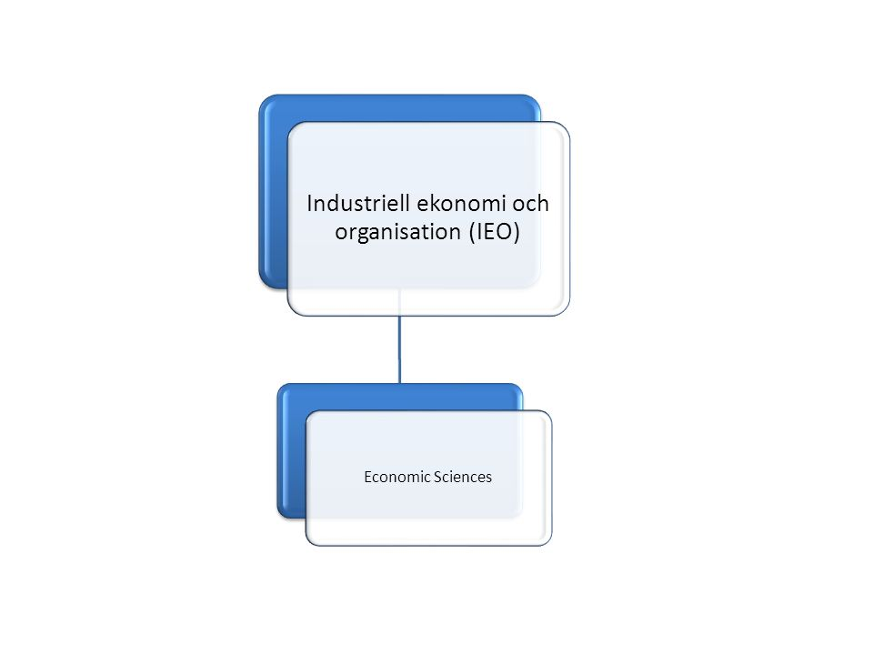 Industriell ekonomi och organisation (IEO) Economic Sciences